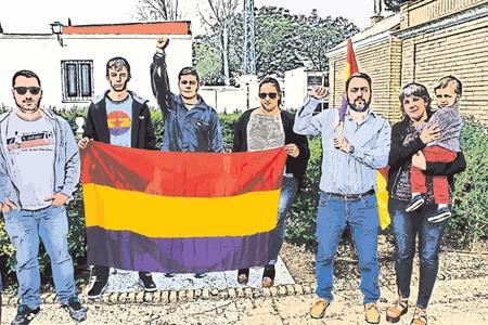 Republikeins. Franco's slachtoffers onthouden Stock Illustratie