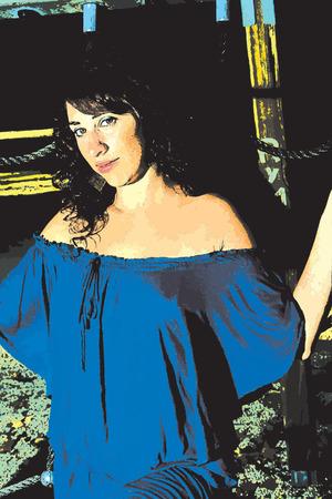裸の肩持つセクシーなモデル  イラスト・ベクター素材
