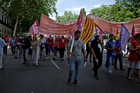 adrid 27th May 2017 - Dignity March, a protest and demonstration