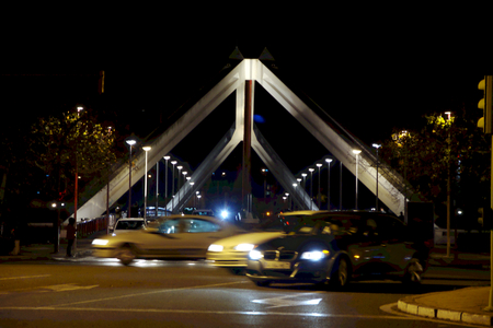 The bridge of La Barqueta in Seville Stock Photo