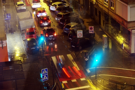 Urban and night life in Granada, Spain