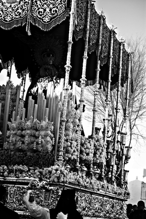 Detail of a float in a Holy Week procession