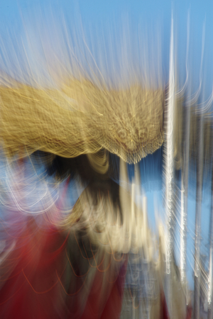 An abstract approach to a Holy Week procession in Carmona (Seville)