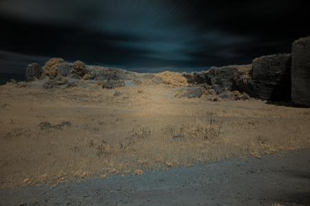 Infrared photography in Carmona 1 Archivio Fotografico - 102265884