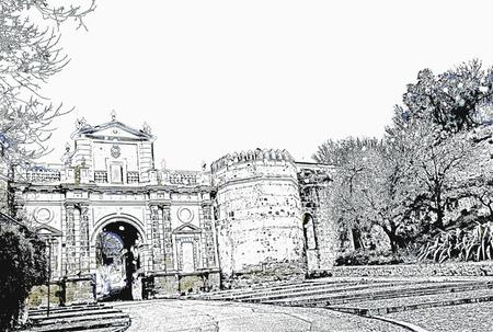 The Gate of Cordoba in Carmona (Seville, Spain)