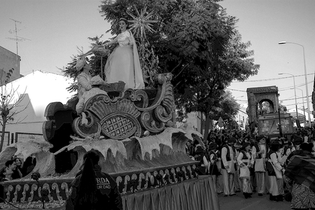 Carmona, Seville, 5th January 2019:  This is a parade  to celebrate the Three Wise Men ad it means te virtual end oooooof Christmas Holidays