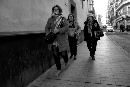 Seville Spain,  9th January 2019. This is an urban scene. People are walking in the streets of Seville. Spain