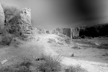 This is a landscape of Carmona shot in infrared photography