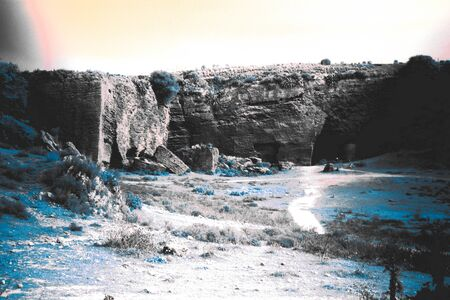 This is a landscape of Carmona (Seville). This is infrared photography