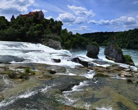 Rheinfall Switzerland. 4 Stock Photo