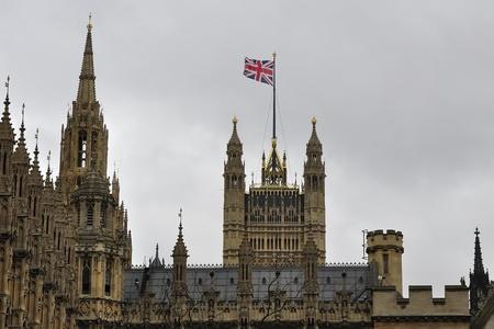 UK parliament, view  Stock Photo