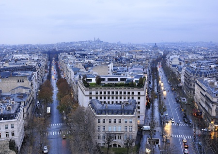 Avenue des Champs-Elysees, aerial view  Stock Photo - 12641093