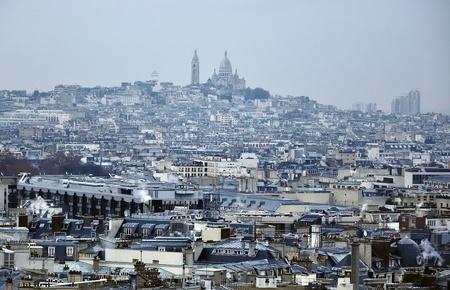 Paris - France Basilique Du Sacre Coeur  Stock Photo