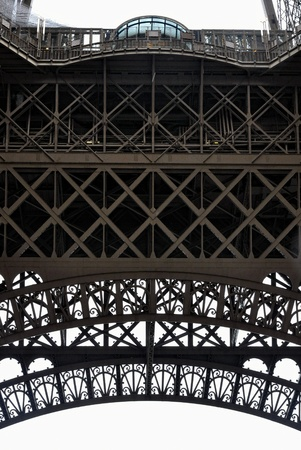Paris - France Eiffel Tower  Close view of the steel