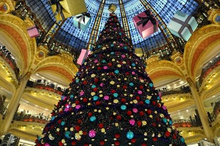 Paris - France Galeries Lafayette in christmas
