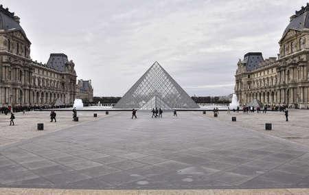 louvre pyramid: Paris - France Musee du Louvre