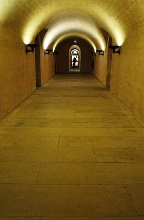 Paris France underground catacombs