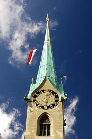 grossmunster cathedral: Zurich Switzerland Old town view  City center