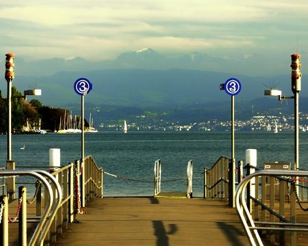 Lake Zurich  Switzerland Europe  In winter
