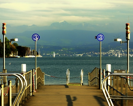 Lake Zurich  Switzerland Europe  In winter  photo
