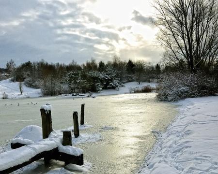 Snow park in Zurich  Switzerland Europe  In winter