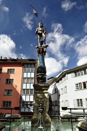 Zurich Switzerland Old town view  City center