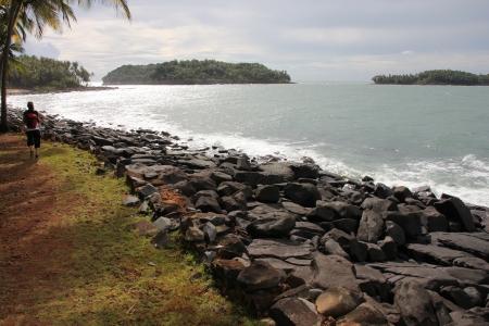 salut: Guyane Française - Les îles de Salut Stock Photo