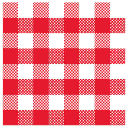 picnic blanket: Red gingham Illustration