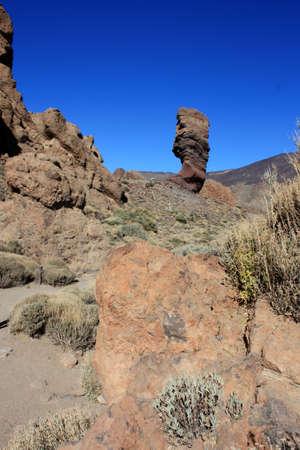 garcia: Tenerife - Los Roques de Garcia - el Teide Stock Photo