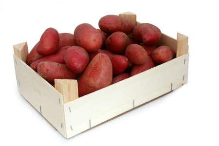 Crate of potatoes photo