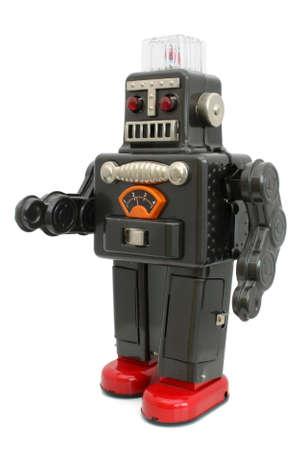 Robot tin speelgoed Stockfoto