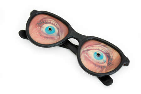 gimmick: Funny eyeglasses Stock Photo