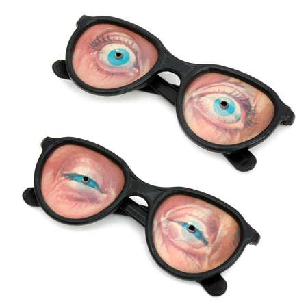lenticular: Funny eyeglasses Stock Photo