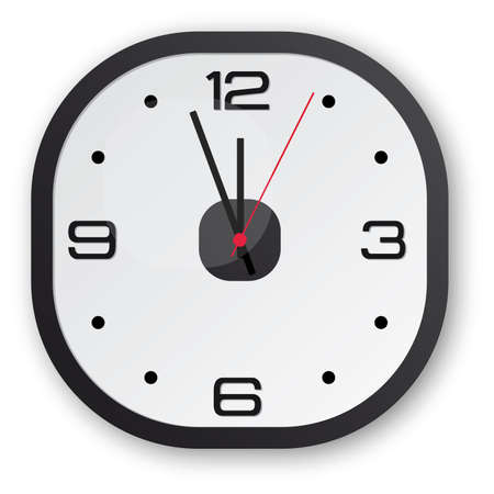 seconds: Black design clock with a touch of red