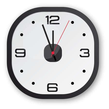 Dise�o de reloj negro con un toque de rojo
