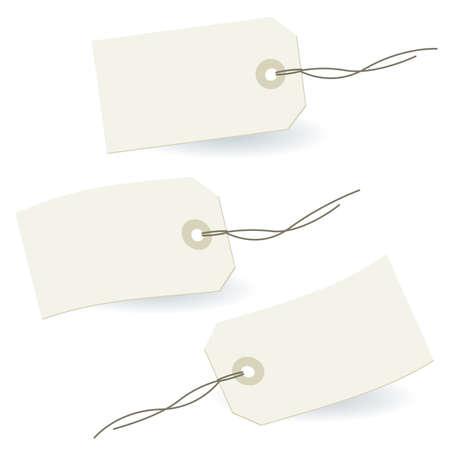 price cut: 3 off etichette bianche stilizzate in bianco
