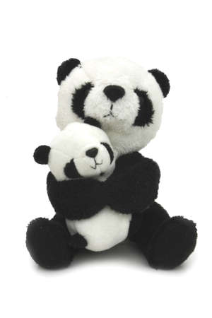 Cuddly toy - Mother and child pandas photo