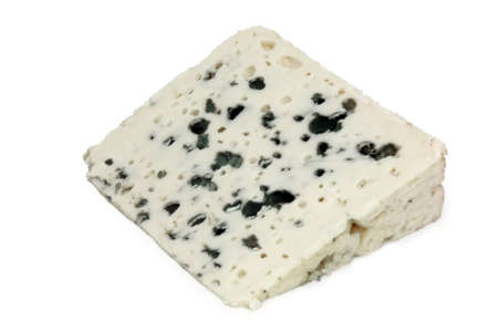 French blue cheese - Roquefort (clipped) Stock Photo
