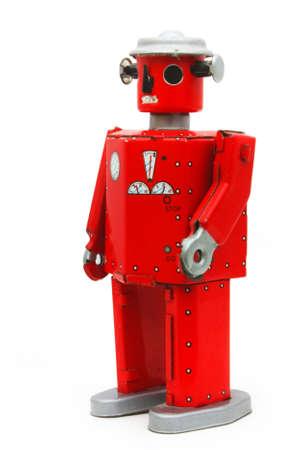 metallschrott: Red Roboter Blechspielzeug (abgeschnitten)