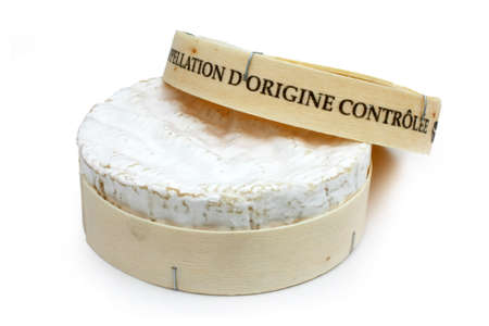 French cheese in his box - Camembert (on a white background) Stock Photo - 12052869