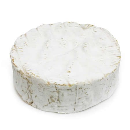 fermenting: Portion of French cheese - Camembert (on a white background)