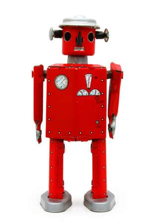 Red robot de hojalata (aislado) Foto de archivo