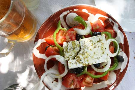 Typical greek feta salad photo
