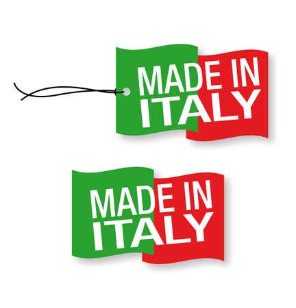 """Made in Italy etiquetas x 2 (aislado)"