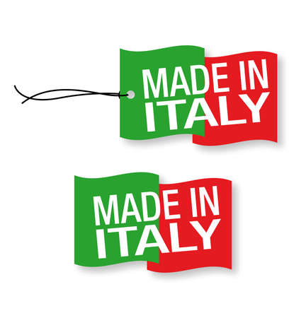 &quot,Made in Italy labels x 2 (isolated)
