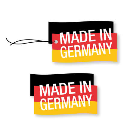manufactured: Made in Germany labels x 2 (isolated)