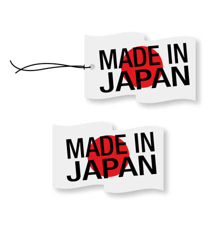 protectionism: Made in Japan labels x 2 (isolated)