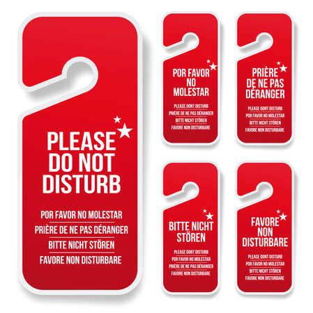 Do not disturb hotel door hanger  Vector