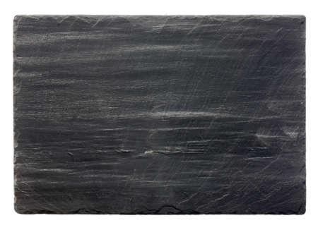 Piedra de pizarra en blanco (aislado) Foto de archivo