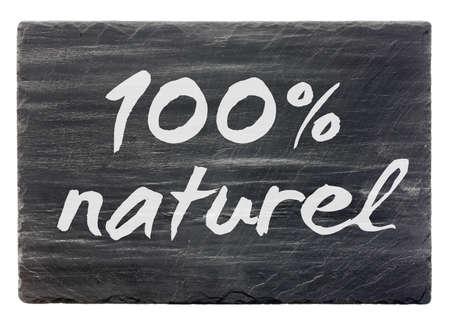 100  naturel  French slate stone panel  isolated  Stock Photo